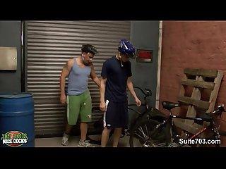 Biker jocks fucking in the Garage