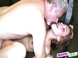 Cheerleaders Fuck Daddy - Alexa Grace And Molly Manson