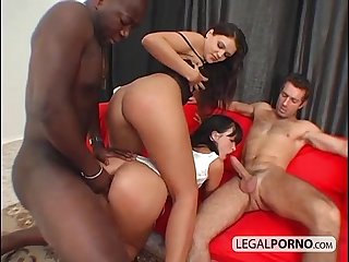 Two horny brunettes fucked hard by two big cocks sb 4 01
