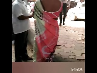 SLUTTY BHAIYANI EXPOSING BLACK BRA ON ROAD
