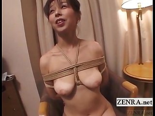 Japanese Wife extreme rope Bondage vibrator play subtitles