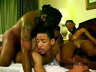 Raw big black dick orgy