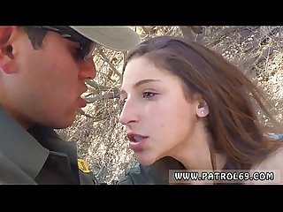 Police officer Xxx latina deepthroats on the border