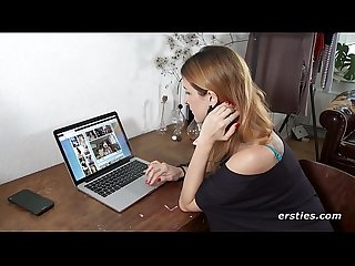 Irina Masturbating to Ersties Porn on her Laptop