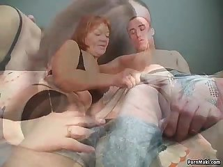 Redhead granny is not too old for fucking