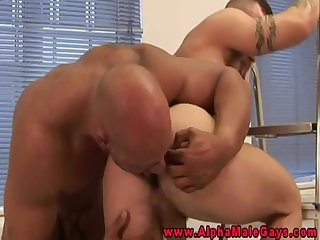 Cocksucking muscle stud assfucked deeply