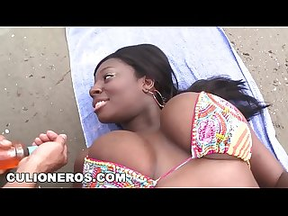Culioneros ebony latina Karina has got giant real titties btc9522