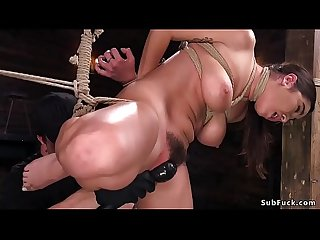 Hairy pussy busty slave fucked