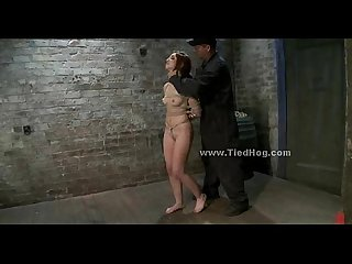 Redhead sex slave in a cell humiliation