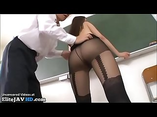 Japanese most sexy teacher fucked in classroom