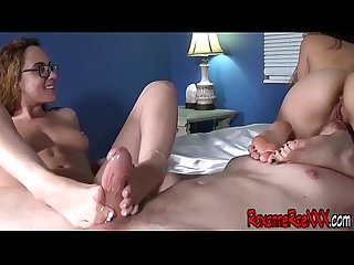 Foot Fetish Sex With Brat Janey And Roxanne Rae FOOTJOB