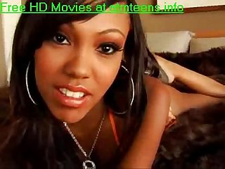 Big tits ebony teen giving blowjob