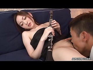 Japanese music student, Kana Sasaki got stimulated with vibrators, uncensored