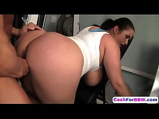 Horny chunker carmella bing takes cash from muscled guy and gets fucked gym Hd 2