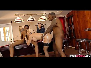 Poor Cuckold Watching Alena Croft Gets Fucked By Two BBCs