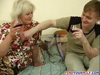 Milf seduced by young man