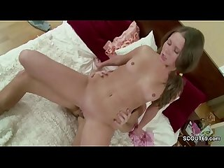 Brother Seduce Extrem Skinny Step-Sister and Cum in Pussy