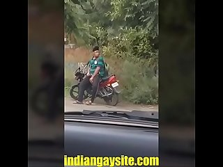Indian gay video of a horny and wild Punjabi boy masturbating openly on road - Indian Gay Site