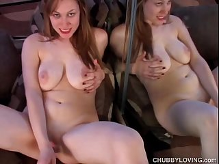 Pretty plump Busty babe plays with her Wet pussy for you
