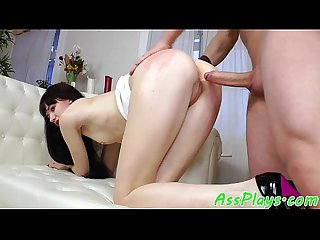 European babe assfucked after assplay