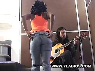 Ebony colombian latin girl fucking for cash