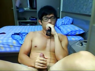 specsaddicted com lovely Chinese boy with faces and cum 2