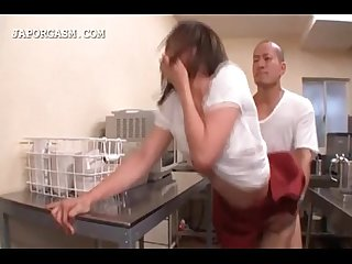 Big titted japanese getting rough sex at work