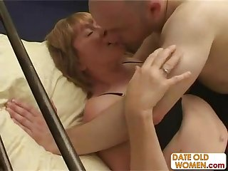 Old grandma pounded and fucked by two old guys