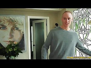 Feeding lily jordan while getting fuck in threesome