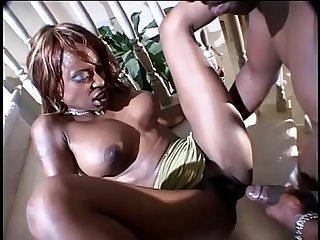 Black milf midori gets her juicy ass drilled on stairs by stud