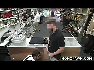 New guy gets fucked straight in the ass in the pawnshop