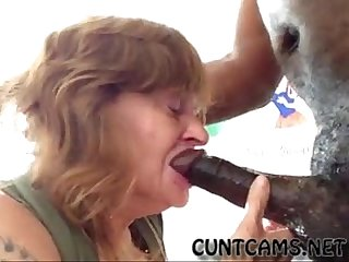 Granny gets her throat wrecked by bbc more at cuntcams net