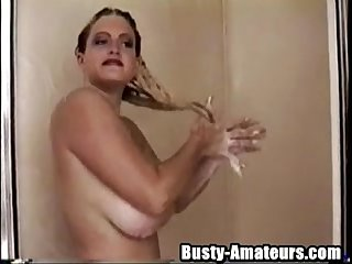 Busty heather on shower