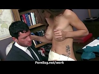 Office hardcore sex play with busty babe 27