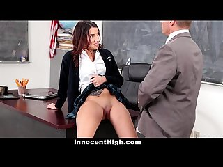 Innocent high school slut fucked by teacher