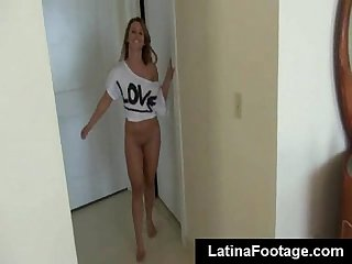 Young latina babe filmed fucking on amateur pov