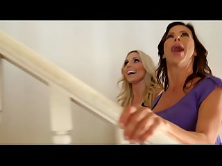 Gorgeous MILF Cousins Alexis Fawx and Christie Stevens Can't Sleep without Eating Each Other