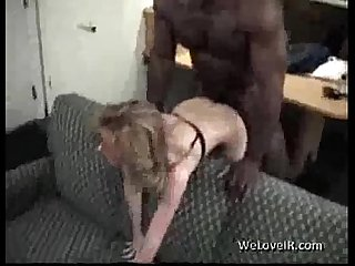 sexy blonde milf gets fucked by big black stud