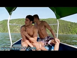 Touch my gay porn movie two dudes have anal sex on the boat
