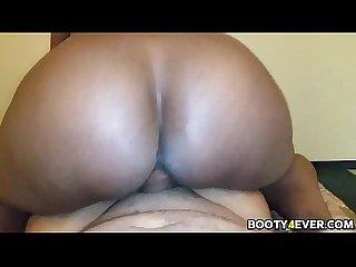 Big black ass babe rides dick