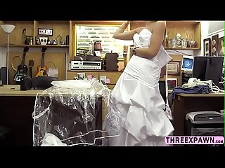 Desperate and beautiful bride sex in the office