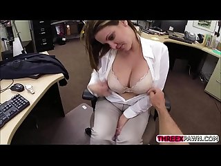 Desperate busty chick will do anything and gets fucked some for money