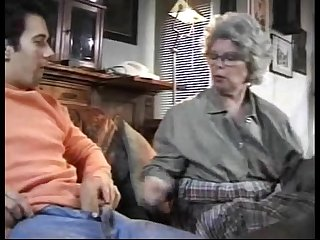 Granny german lady sucks grandson caught Jacking off
