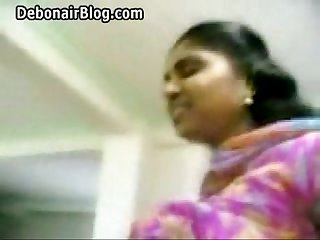 Booby tamil babes big tits exposed and fondled and navel licked by lover