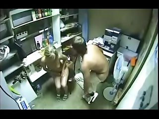 couple caught having sex on security cam - watch part2 on xxxcamshow.net