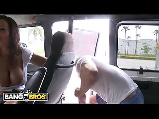 BANGBROS - MILF Pornstar Lisa Ann Rocks The Bang Bus With Her Big Tits and Big Ass!