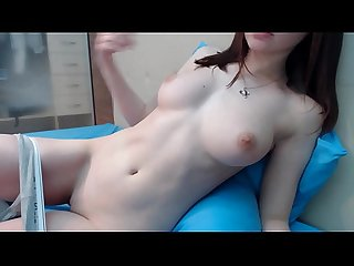 Pale Busty Brunette with Pale Vagina does Masturbation with her Natural Big Tits and Excellent Pussy