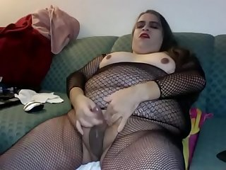 Bbw cd cums hard in bodystocking dickgirls xyz