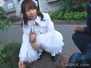 Innocent Japanese teen Maid disgraced by older man