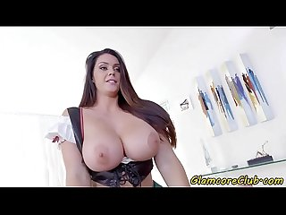 Bigtits euro pornstar loves riding hard cock